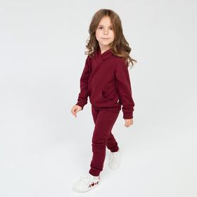 Спортивный костюм детский, цвет бордовый, рост 104 см