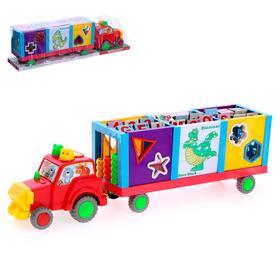 Развивающая игрушка - сортер «Весёлый трактор», с прицепом