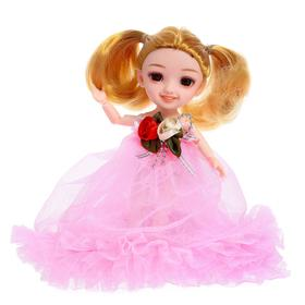 Кукла шарнирная «Лиза», в платье, МИКС