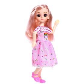 Кукла шарнирная «Катя» в платье, МИКС