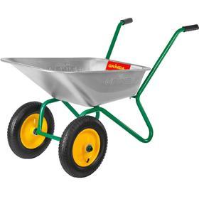 Тачка садовая двухколесная, 80 л/120 кг, d колеса-36 см