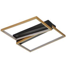 Люстра 2205/2 LED 44Вт 6000К черно-золотой 45х45х7 см