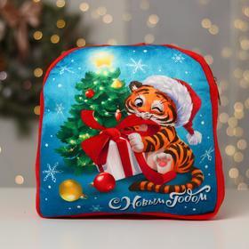 Рюкзак детский «С Новым годом» Тигрёнок, 28 х 25 см
