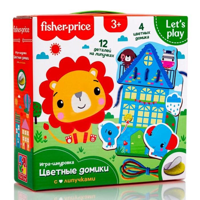 Игра-шнуровка Fisher Price «Цветные домики»