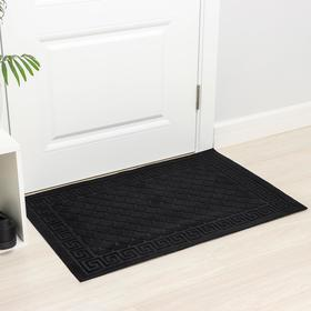 Коврик влаговпитывающий «Чешуйки», 60×90 см, цвет чёрный