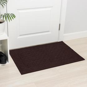 Коврик влаговпитывающий «Чешуйки», 60×90 см, цвет коричневый