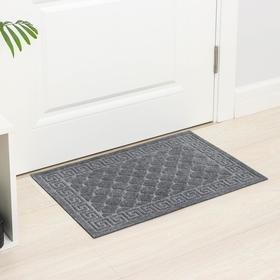 Коврик влаговпитывающий «Чешуйки», 45×75 см, цвет серый