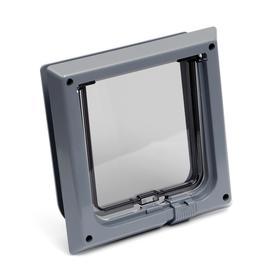 Дверца для животных «БАРСИК», проём 145*145 мм, толщина двери 36-42 мм, серый