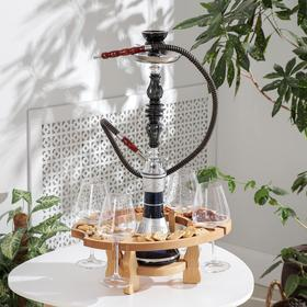 Столик-поднос для кальяна Доляна, 40×30×18 см, берёза