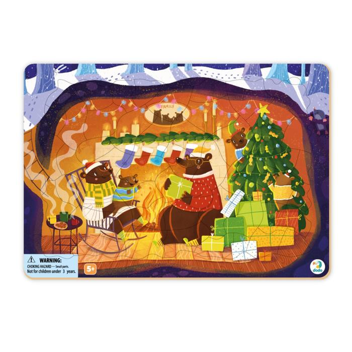 Пазл «Рождественская сказка медвежат», 53 элемента