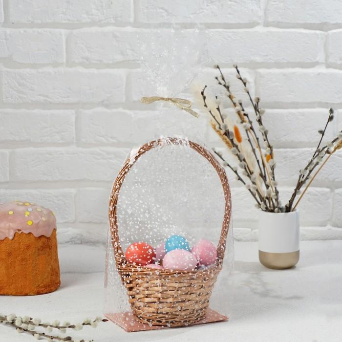 """Пакет """"Подарочный"""", с жестким дном, №2 микс 11 х 17 х 60 см"""