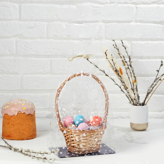 """Пакет """"Подарочный"""", с жестким дном, микс, 14 х 22 х 70 см"""
