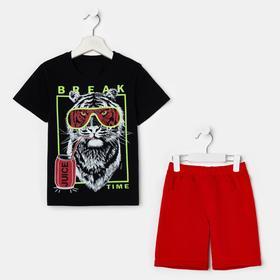 Комплект для мальчика, цвет чёрный/красный, рост 104 см