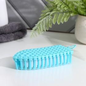 Щётка для уборки Доляна, гибкая, 15,5×6,5×3,5 см, цвет МИКС