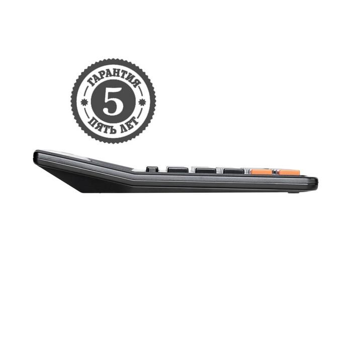 Калькулятор настольный 12-разрядный SDC-444S, 153*199*31мм, двойное питание, черный - фото 448833414