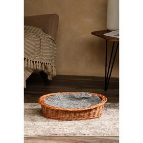 Лежанка для собак и кошек из лозы, 48х36х12 см