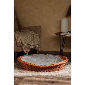Лежанка для собак и кошек из лозы, 74х61х17 см