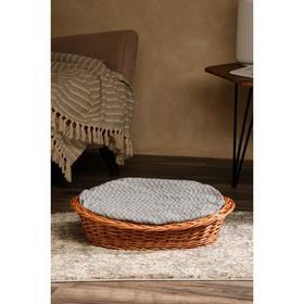Лежанка для собак и кошек из лозы, 56х41х10 см