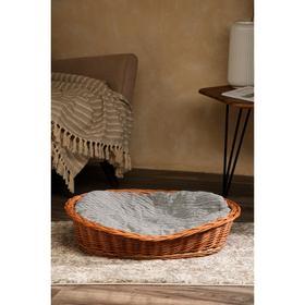 Лежанка для собак и кошек из лозы, 64х48х11 см