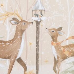 Комплект штор для кухни с подхватами Christmas forest 145х180см-2 шт., габардин