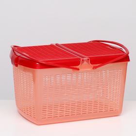 Переноска-корзина для кошек и собак, 47х36х27,5 см, красная