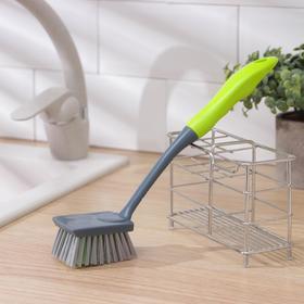 Щётка для посуды Доляна Green day, прямоугольная, 28 см
