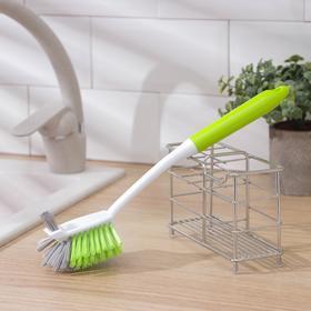 Щётка для посуды Доляна Green day, двойная, 29 см