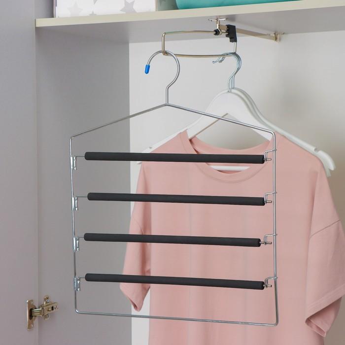 Multi-tiered anti-slip hanger, MIX color