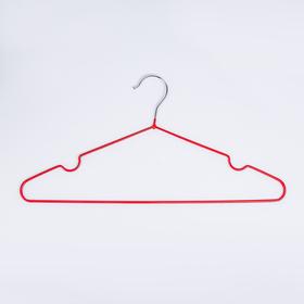 Вешалка-плечики с антискользящим покрытием, размер 42-46, цвет бордовый Ош