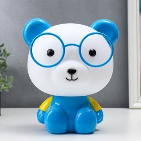"""Настольная лампа """"Медведь"""", 1х15Вт Е14, цвет синий 4854169"""
