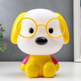 """Настольная лампа """"Собака"""", 1х15Вт Е14,  цвет жёлтый"""