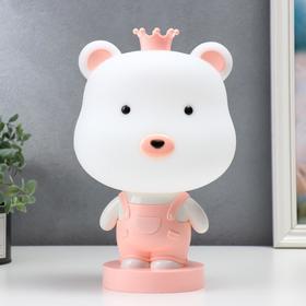 """Настольная лампа """"Мишка"""", 1х15Вт Е14, цвет розовый"""