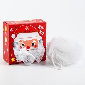 Мочалка детская для купания «Дед Мороз»