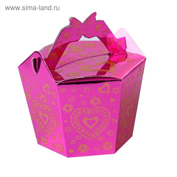 """Коробка сборная """"Желание"""", цвет малиновый"""