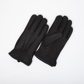 Перчатки мужские, размер 10, подклад флис, цвет чёрный