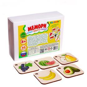 Игра-конструктор настольная «Мемори» Ягоды, фрукты овощи, 36 фишек