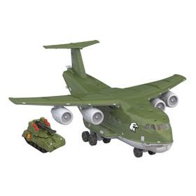 Самолёт «Транспортный военный», световые и звуковые эффекты, подвижные элементы