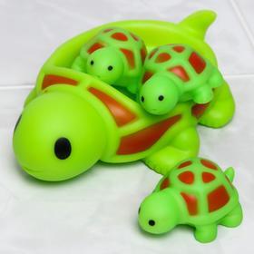 Набор игрушек для купания «Черепаха», мыльница, игрушки 3 шт