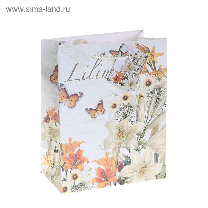 """Пакет ламинированный """"Бабочки и лилии"""""""