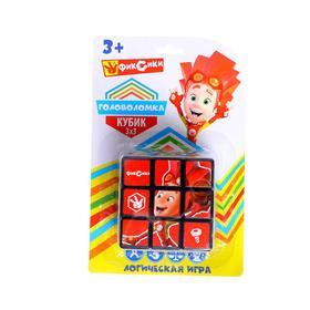 Логическая игра «Фиксики» размер кубика: 3×3 см, с картинками