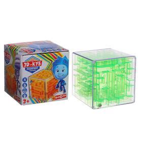 Логическая игра «Фиксики» куб-лабиринт с шариком, в коробке