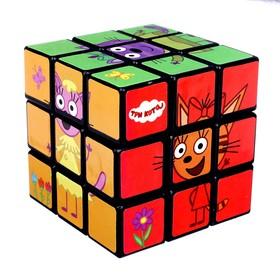 Логическая игра «Три кота» размер кубика: 3×3 см, с картинками