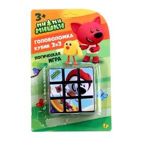 Логическая игра «Ми-ми-мишки» размер кубика: 3×3 см