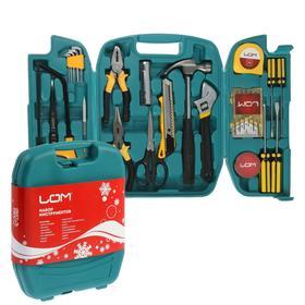 """Набор инструментов в кейсе LOM """"С новым Годом"""", подарочная упаковка, 27 предметов"""