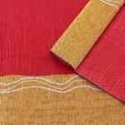 Бумага креп, с золотым верхом, цвет красный, 0,5 х 2,5 м