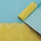 Бумага креп, с золотым верхом, цвет голубой, 0,5 х 2,5 м