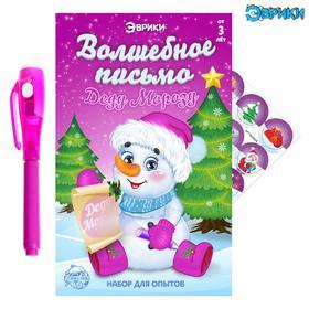 Набор для опытов «Волшебное письмо Деду Морозу», Снеговик