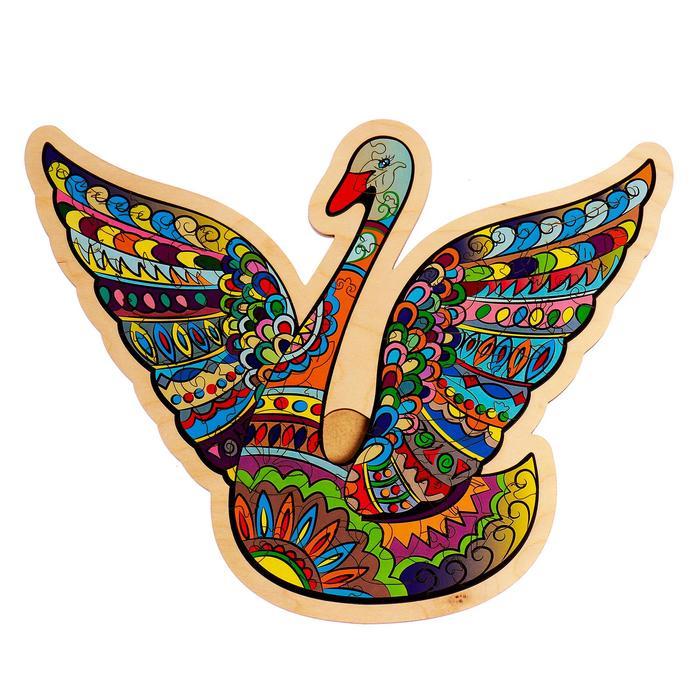 Фигурный пазл в рамке «Лебедь» 57 деталей