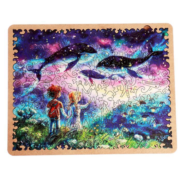 Пазл - картина из дерева «В горы за счастьем» 108 деталей