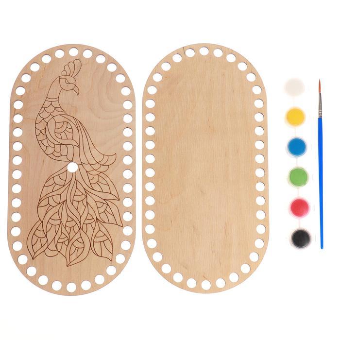 Набор для творчества. Набор для вязания. Основа донышко и крышка для вязания корзинки «Овал» 2 шт.